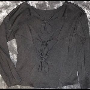 Poof! Tie-back/Knotted Sweater